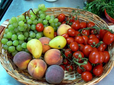 Fresh Tuscan fruit and vegetables