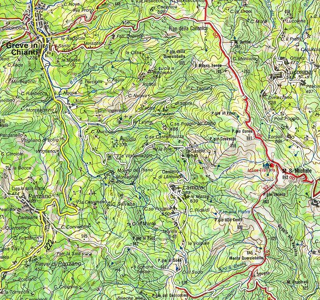 Hiking tails walking vacation hiking holiday chianti tuscany monte san
