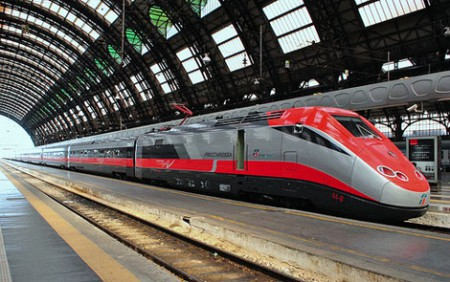 Frecciarossa high speed train in Italy