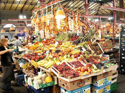 Fresh fruit and vegetables in a Tuscan market