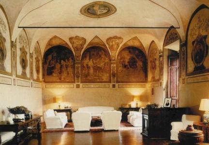 Frescoes at Badia a Coltibuono
