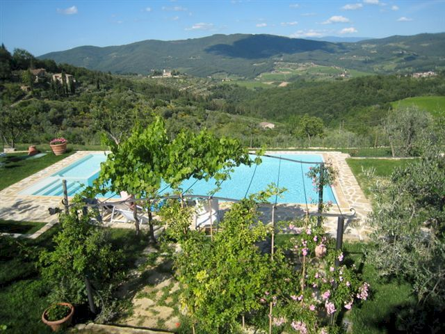 Farm stay rooms and apartment with swimming pool high in the Chianti hills