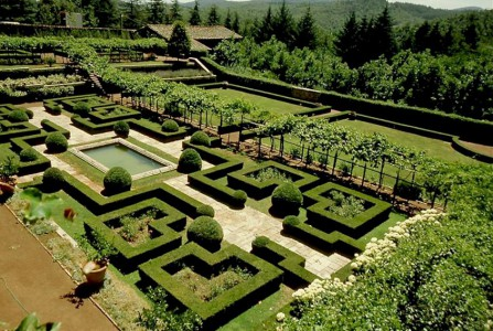 The italianate garden of Badia a Coltibuono